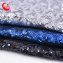 Custom-Made  Good Price Water Soluble Mesh Net Sequin Embroidery Organza Velvet Lace Fabric For Shoe Bags Dress Garment Wedding