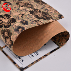 Orchid Pattern Print Cork Fabric Decorative Material