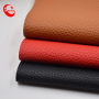 High Quality   glossy Lichee Pattern Synthetic Pu Leather Fabric