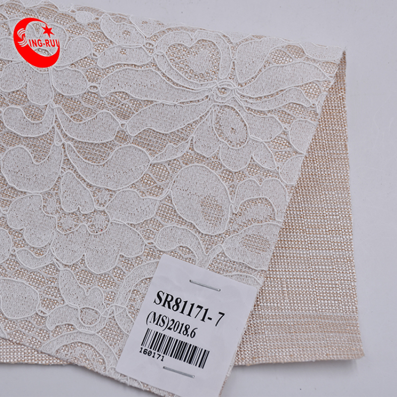 Pretty Selling Soft Mesh Pu Embroidery Lace Knitted Fabric