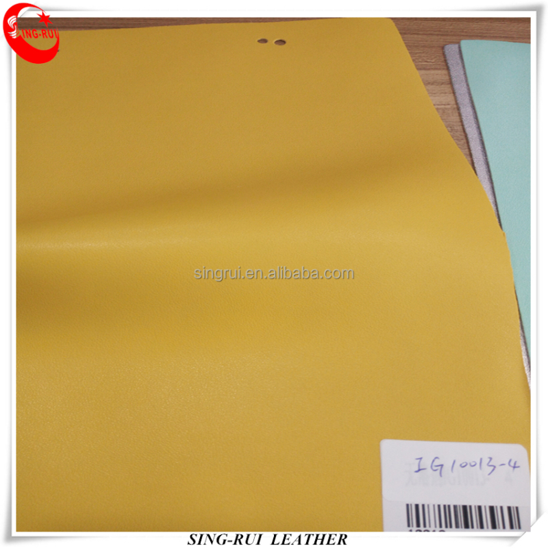 Eco PU Microfiber Synthetic Leather Soft Solid Color for Sport Shoes