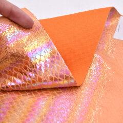 Дизайн змеи из хлопчатобумажной ткани с тиснением в модном эффекте с фольгой, новая разработка, фольга для сумки и обуви