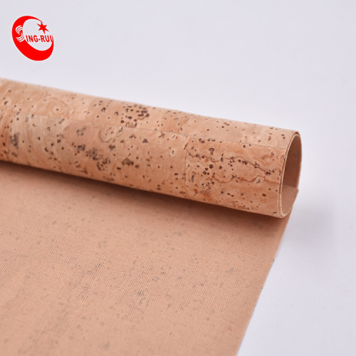 Hot Sale New Design  Eco Friendly Printed Solids Washable Portugal Pu Vegan Natural Cork Leather Fabric