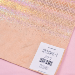 Экологичный модный узор с животным принтом, мягкая вязаная ткань из полиэстера с змеиным принтом для сумки / обуви / украшения