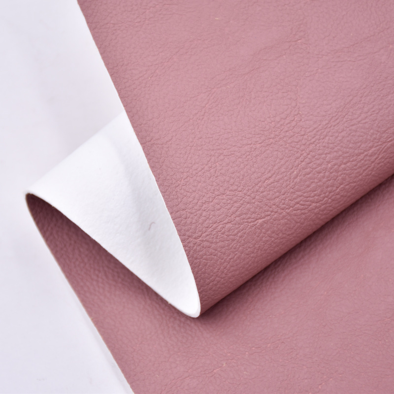 Corn Fiber Customize Embossed artificial Leather Soft handle and good crease recocery eco-friendly pu leather for bags Shoes