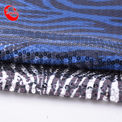 2021 Custom High Quality French Shining Luxury Stripes Gradient Knit Embroidery Mesh Sequin Lace Fabric For Dress