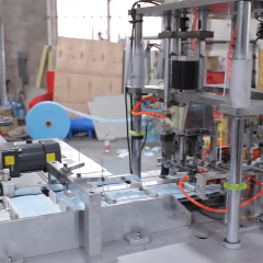 High production efficiency 3 ply face mask making machine