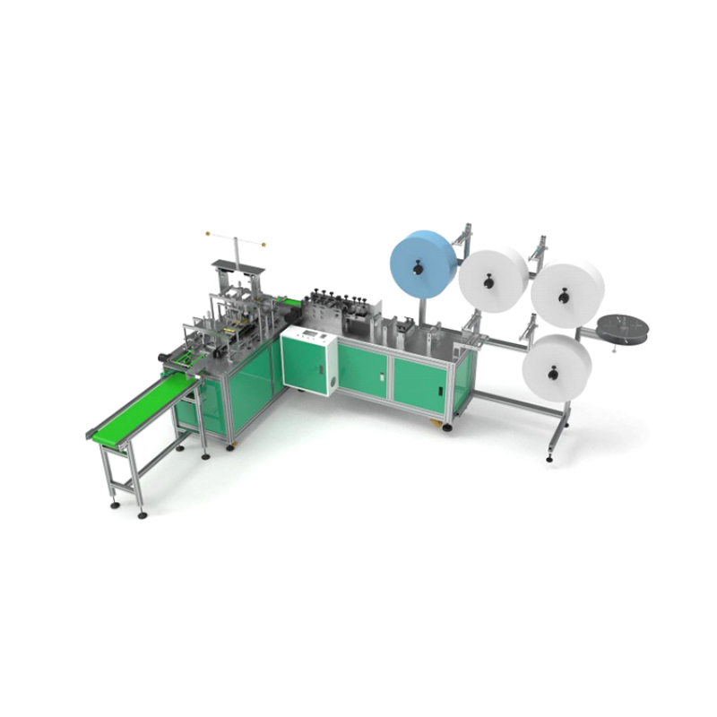 High speed full automatic medical face flat mask making machine