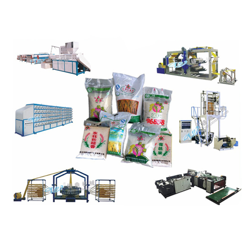 Automatic polypropylene PP woven rice cement bag sack making machine