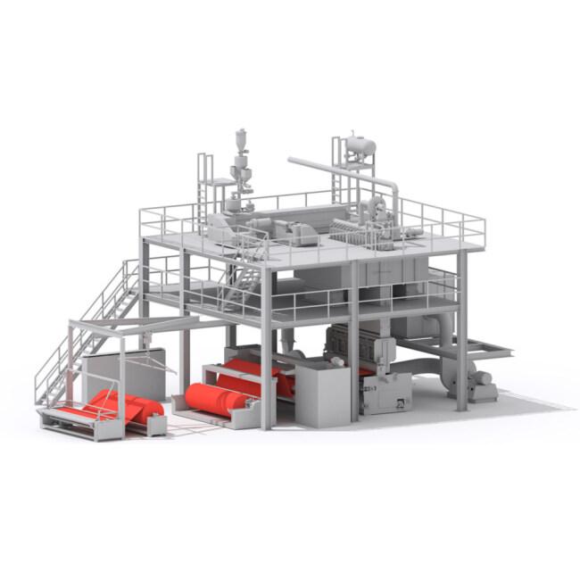 Automatic medical hygiene melt blown non woven fabric machine making