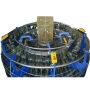 High speed plastic fruit wesh bag four shuttle circular loom machine