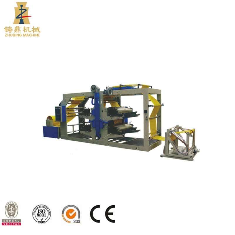 PP woven roll Polypropylene tube fabric flexographic printing machine price