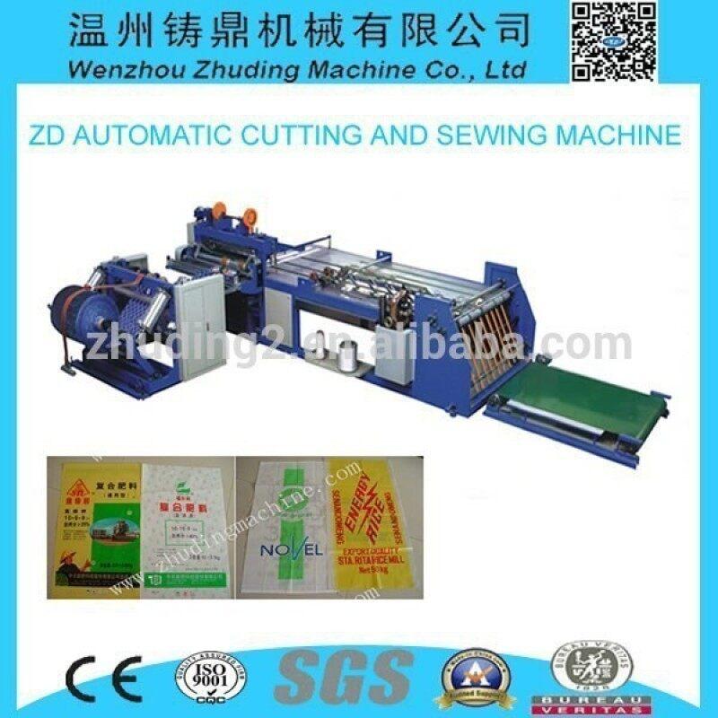 High efficiency automatic bag making machine bag cutting sewing machine