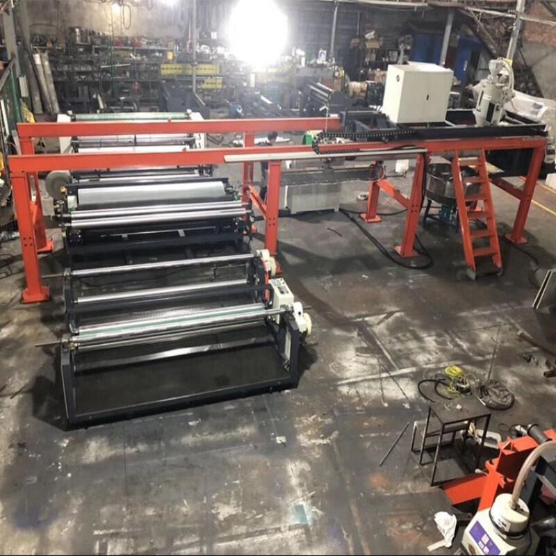 PP woven bag paper pe extrusion coating laminator hot roll laminating machine
