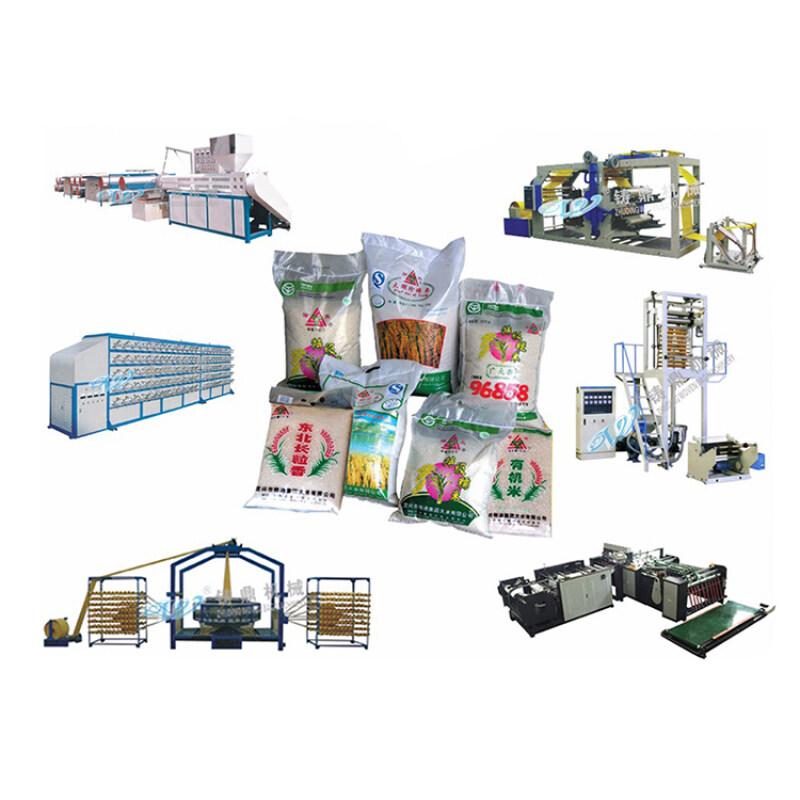 China 50kg rice sack pp woven packing bag making machine price