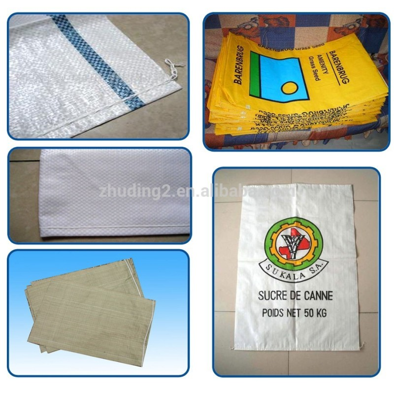 AUTOMATIC PLASTIC WOVEN SACK RICE BAG CUTTING SEWING MAKING MACHINES