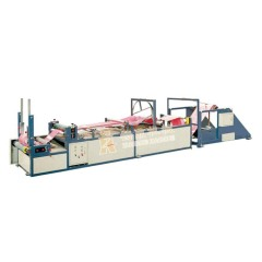 High speed M-side pp woven sack rice bag gusset machine