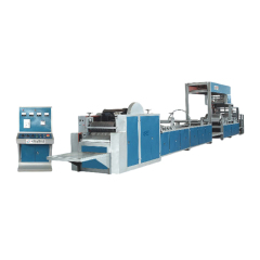Automatic pp woven cement valve packing bag making machine price