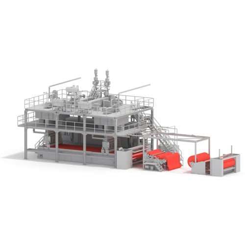 Automatic double beam ss nonwoven spunbond fabric line making machine