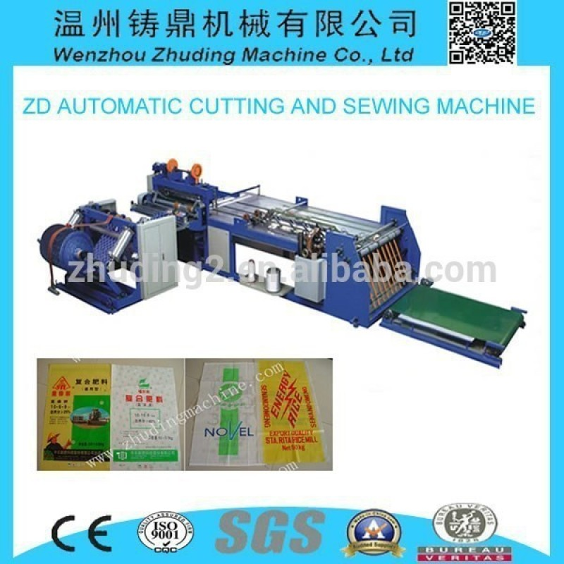 Automatic PP woven bag production cutting and sewing machine