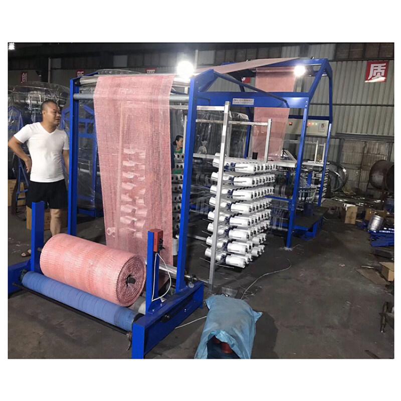 Automatic mesh bag sack making machine textile weaving shuttle circular loom