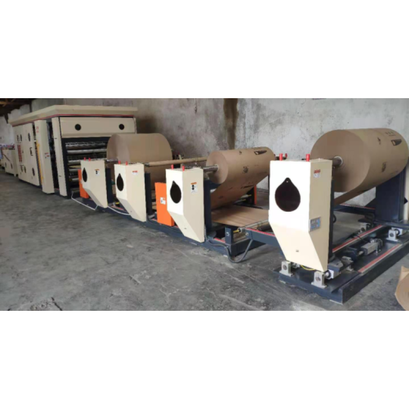 Fully Automatic Roll Feeding 4 Layer 6 Color Paper Cement Packing Bag Making machine