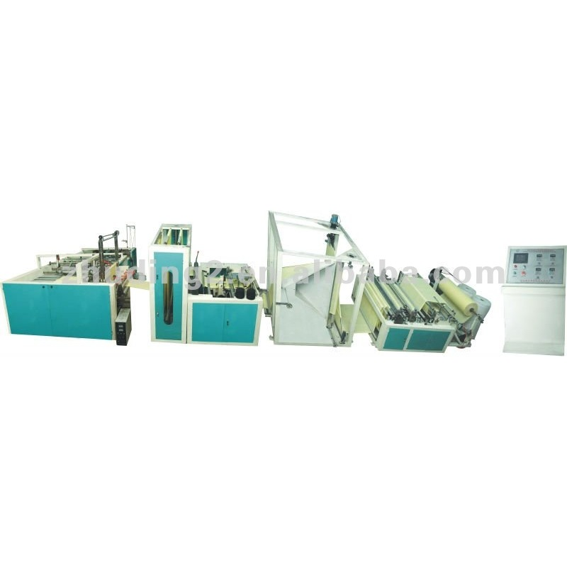 Automatic PP woven bag sack cutting and sewing machine