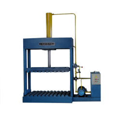 Easy operating plastic hydraulic baling machine for soft articles
