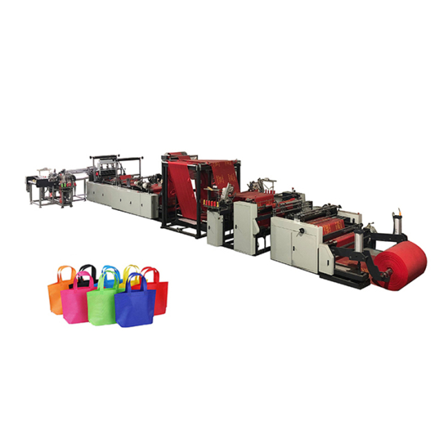 Automatic high quality non woven fabric carry shopping bag making machine