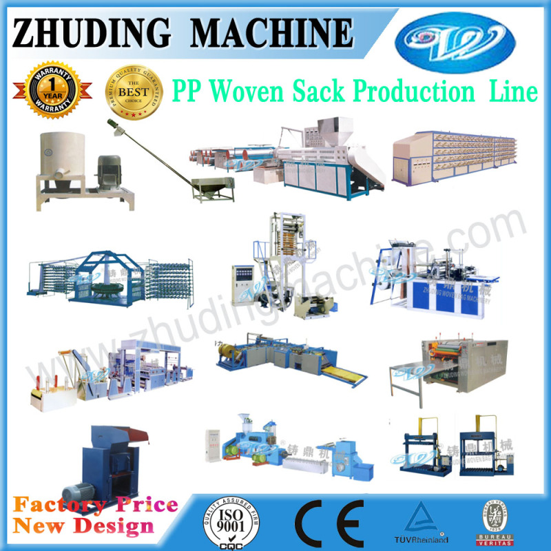 poly woven bags PP flat yarn production line