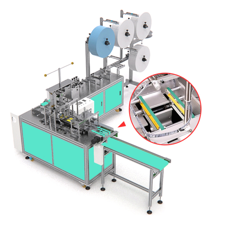 Fully automatic disposable face flat mask forming making machine