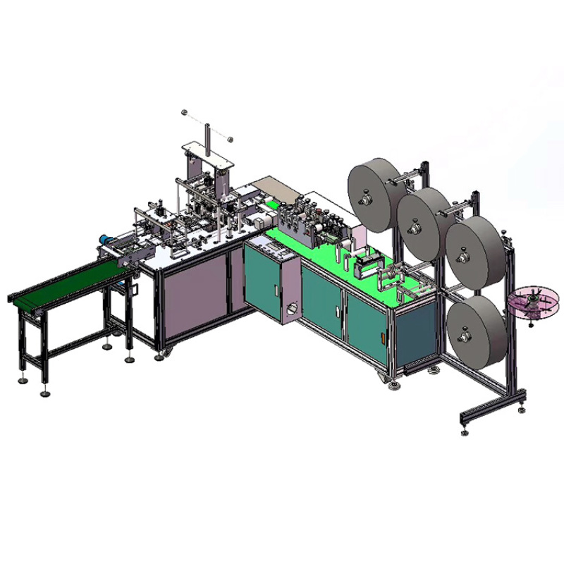 Full automatic surgical face flat mask maker machine
