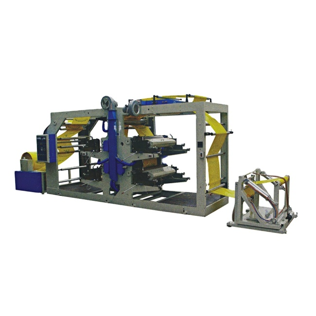 Transfer continuous flexographic printing machine for woven bag
