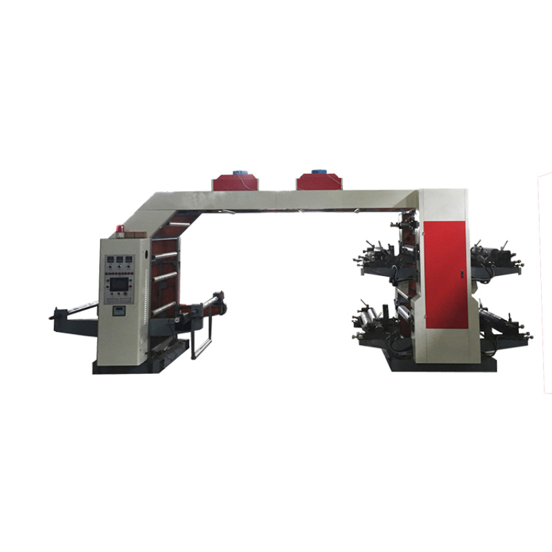 4 color high speed flexographic press printing machine