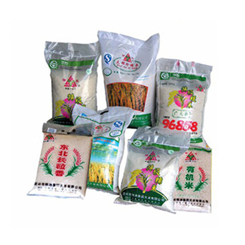 High speed fully automatic 25kg 50kg rice plastic packing bag making machine