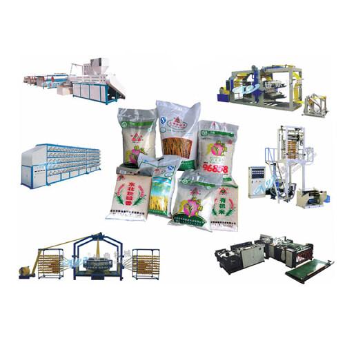 China one-stop eco pp woven flour bag making machine line machine