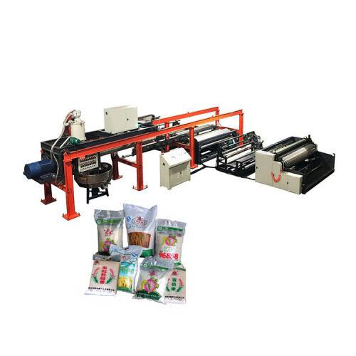 China fully automatic rice bag making laminating machine sale