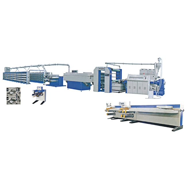 High speed PP woven bag making machine flat PP yarn extrusion line