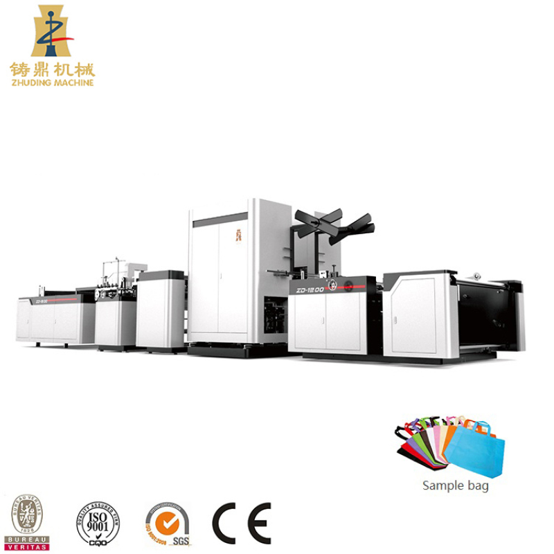 Automatic pp non woven bag cutting and sewing machine