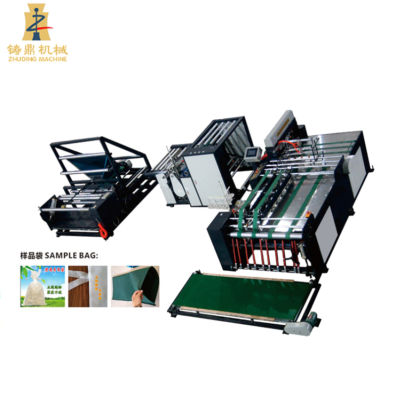 Heavy duty automatic non woven grain bag cutting sewing sack making machine price