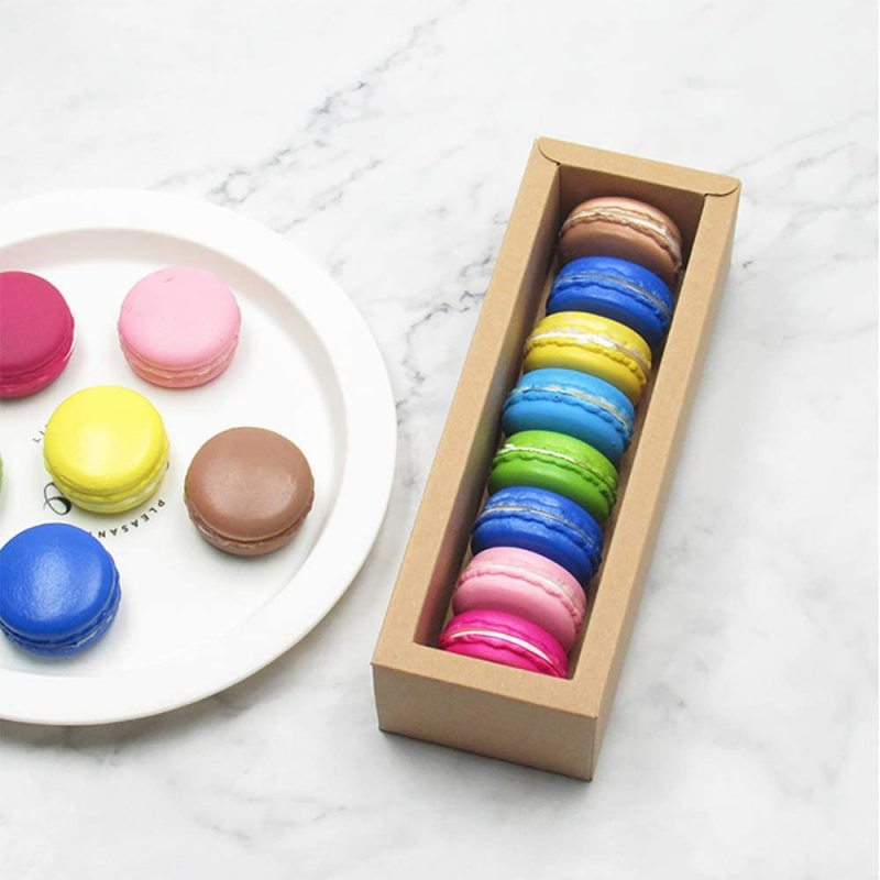 Can be wholesale bakery Halloween party small cakes double row large capacity macarons transparent window paper box