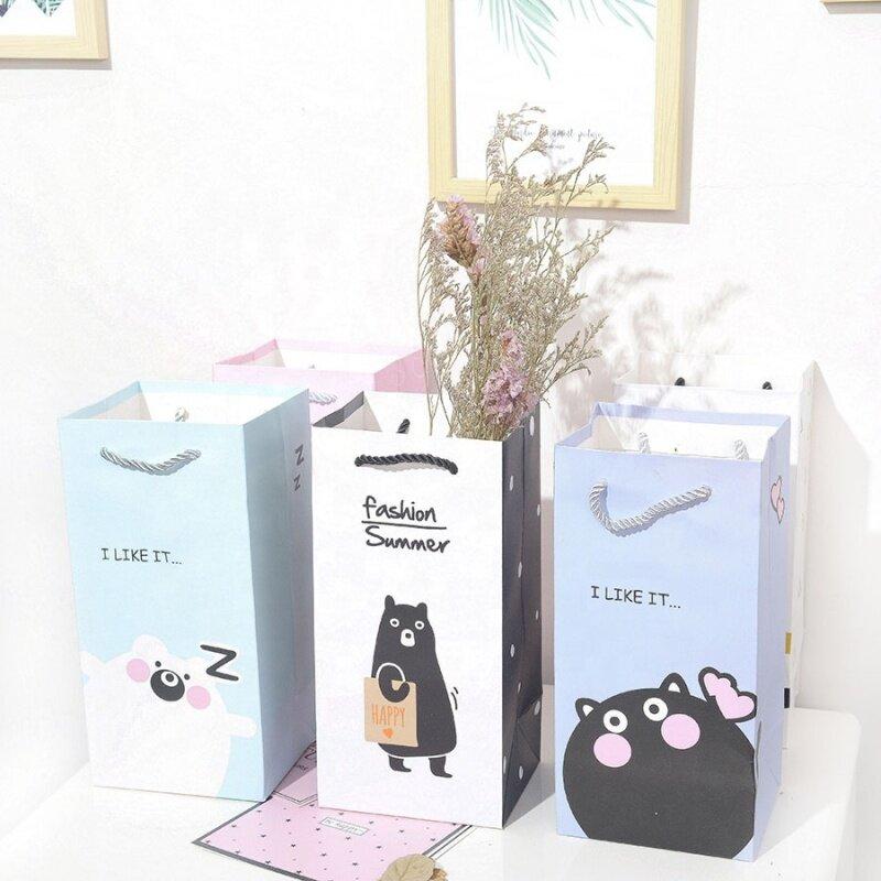 Custom shopping paper luxurious paper gift flower packaging bag