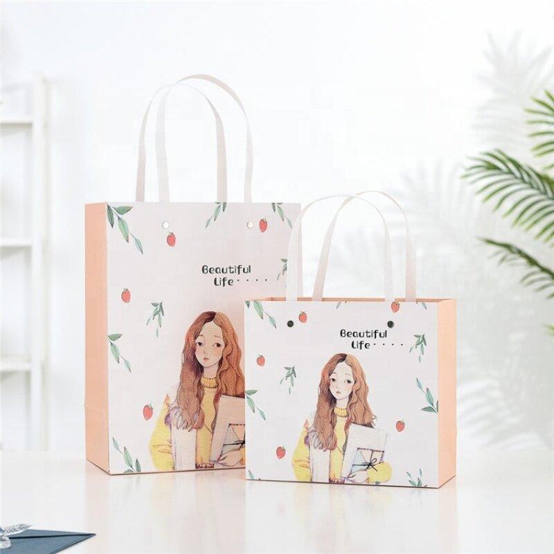 Custom paper shopping bag for gift