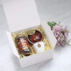 New handmade cupcake white paper gift box with lid easy to assemble bridesmaid proposal box practical storage box