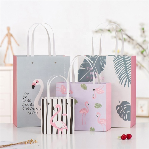Custom paper shopping paper bag gift