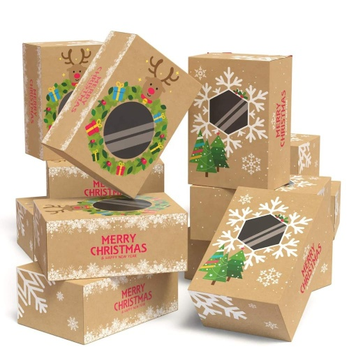 Custom Various Food Grade Bakery and Wedding Favor Boxes  Christmas Newyear  Donuts Truffles Gift-Giving box