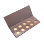 Foldable cosmetic eye shadow storage box for simple eye shadow packaging box