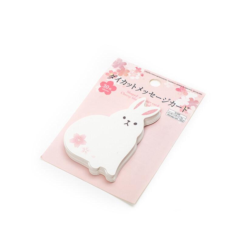 Wholesale Christmas birthday universal pink rabbit shape mini blessing card