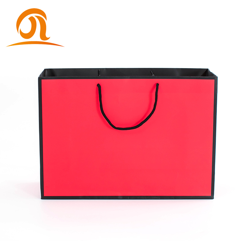 Luxury Custom Full Color And Print Company Name Paper Bag For Wigs Hair