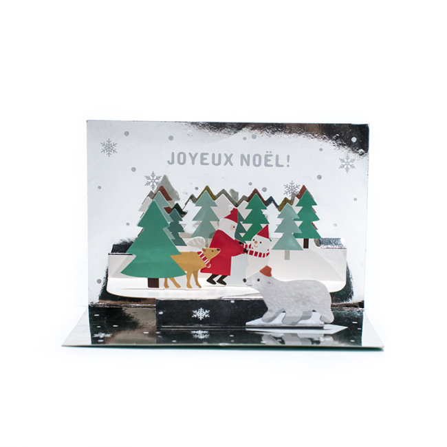Holiday season origami pop up christmas card gift giving creative card paper greeting card